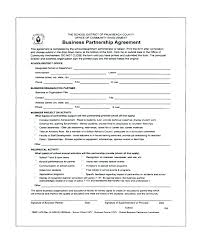 Partner Contract Sample Custom Template Free Business Partner Contract Template Affidavit Of