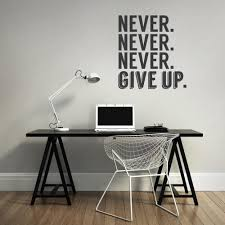 office wall stickers. Never Give Up Office Wall Sticker Stickers I