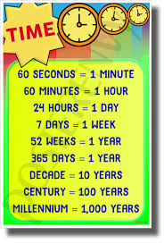 100 Chart Poster Time Chart New Math And Science Poster