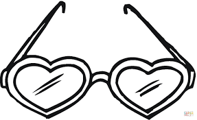 Small Picture Heart Shaped Sunglasses coloring page Free Printable Coloring Pages