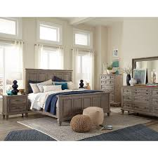 casual rustic gray 4 piece king bedroom set dovetail rc willey furniture