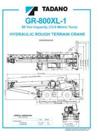 Tadano Gr 800xl 1 Specifications Cranemarket