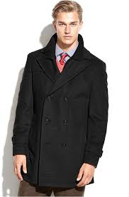 labrada double ted wool blend peacoat