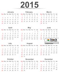 Simple 2015 Calendar Simple 2015 Calendar Template Vector Free