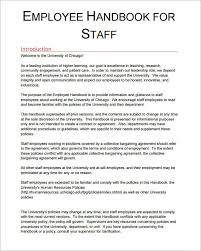 Staff Manual Template Inspiration 48 Sample Printable Employee Handbook Templates Sample Templates