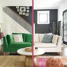 Leather Sofa Makeover Remodelaholic Easily Change A Room With A Custom Ikea Sofa Slipcover