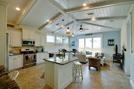 open floor plan beach cottage