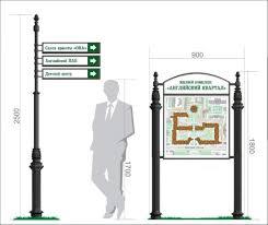 Система визуальной навигации. <b>Уличные</b> указатели. Примеры ...