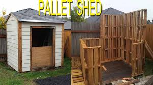 shed built with free pallets check link in description for more info on shed plans you