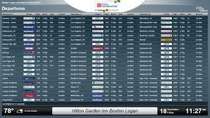 hilton garden inn boston logan airport installs flyteboard for fly away guest convenience