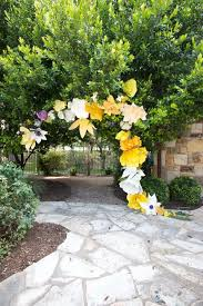 Paper Flower Archway Best Outdoor Easter Decorations Of 2019 Pretty Diy Outdoor