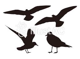 鳥のシルエット黒イラスト No 765078無料イラストなら