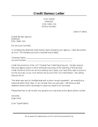 Sample Of Dispute Letter To Credit Bureau - Letter Of Recommendation