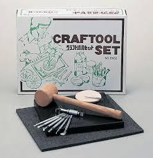 craft sha leathercraft standard leather stamp tool kit swivel knife craftool set
