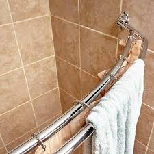 how to place a shower curtain rods the homy design intended for inside double curved rod