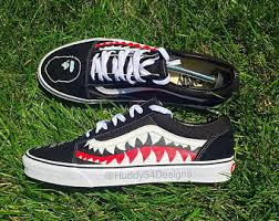 vans bape. shark teeth bape vans s
