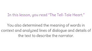 "lesson ""the tell tale heart"" introduction learnzillion view resource copy resource id"