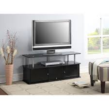 Cherry Wood Dvd Storage Cabinet Convenience Concepts Designs2go Cherry Tv Stand With 3 Cabinets