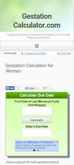 Home Gestation Calculator Com