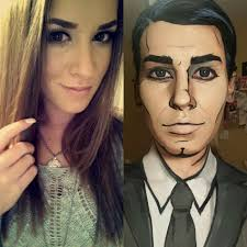 make up artist turns people into ic book characters