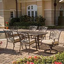 hanover traditions aluminum dining set seats 6 patio furniture pinterest sets aluminium alloy and oil rubbed bronze hanover patio furniture d63