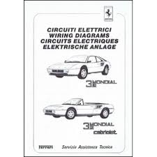 wiring diagrams pdf ferrari automobilia maranello literature 17 25 1987 ferrari mondial 3 2 cabriolet wiring diagrams 488 87 pdf it fr