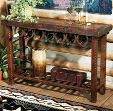 Wine rack table Walnut Lone Star Western Decor Western Furniture Horseshoe Wine Rack Tablelone Star Western Decor