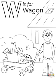 Small Picture Letter W Is For Wagon Coloring Page New Coloring Pages Printable
