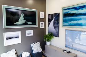 at vancouver s waterfront station samsung canada showcased the frame 4k uhd tv the frame is an innovative design concept that enhanced your wall with art