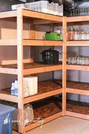 building wood shelves basement shelving by the wood grain cottage diy wood storage garage