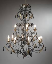 large wrought iron chandeliers classic and gothic inside 9