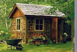 garden houses. garden houses made of wood - nice and compact shed in the backyard