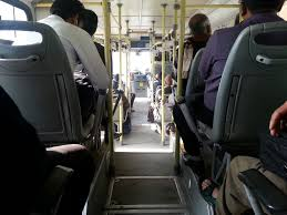 Image result for DTC bus back inside view