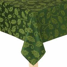 st nicholas square rich green holly tablecloth fabric table cloth 90 round