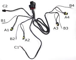 hid conversion kit dual relay wiring harness for h4 h13 9004 dual relay wiring harness for h13 9008 hid conversion kit