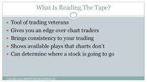 How To Read Stock Charts For Day Trading Reading The Tape 101 Learn How To Read The Tape For Day