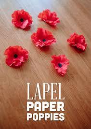 Make A Paper Poppy Flower Lapel Paper Poppies