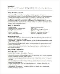 Digital Marketing Specialist Resume , Marketing Resume Samples for  Successful Job Hunters , It is an