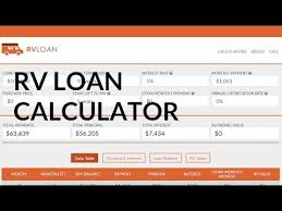 Mortgage Calculator With Extra Monthly And Yearly Payments Loan Calculator For Buying An Rv Rv Payment Calculator Youtube
