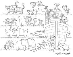 Noah S Ark Free Coloring Page His Kids Company