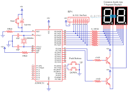 Asm Chart For 2 Bit Up Down Counter 2 Digit Up Down Counter Circuit Using 7 Segment Displays