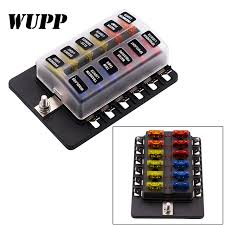 12 way blade fuse box holder with led warning light kit for car boat fuse box issues 12 way blade fuse box holder with led warning light kit for car boat marine trike