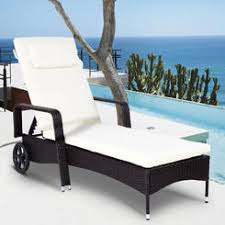 outdoor chaise lounge chairs. Goplus Outdoor Chaise Lounge Chair Recliner Cushioned Patio Furniture Adjustable Wheels Chairs O