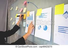 How To Make A Flip Chart Presentation Working Drawing On Flipchart Businesswoman Making New Plan On Board In During Presentation In Conference