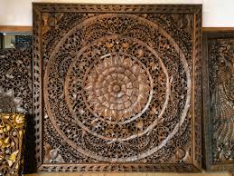 carved wood wall art panels large carved wood panel teak wall hanging siamsawadee tierra este on teak wall art panels with carved wood wall art panels large carved wood panel teak wall