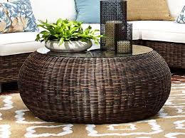 round wicker coffee table with storage round wicker coffee table more 7 b