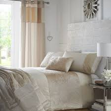 cream colour stylish soft crushed velvet duvet quilt cover set luxury beautiful bedding 10054 p jpg