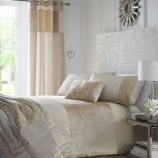 cream colour stylish soft crushed velvet duvet quilt cover set luxury beautiful bedding 10054 p jpg