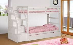bunk bed with trundle and drawers. Simple And Twin Over Plus A Trundle WStorage Drawers Under Steps White  Finished Solid Wood Steps Can Be Used On Either The Left Or Right Side Of Bunkbed Inside Bunk Bed With And Drawers E