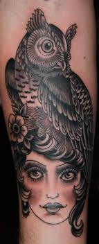 30 прекрасных татуировок с совами факты и значения